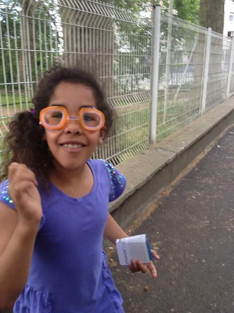 Eva's new goggles