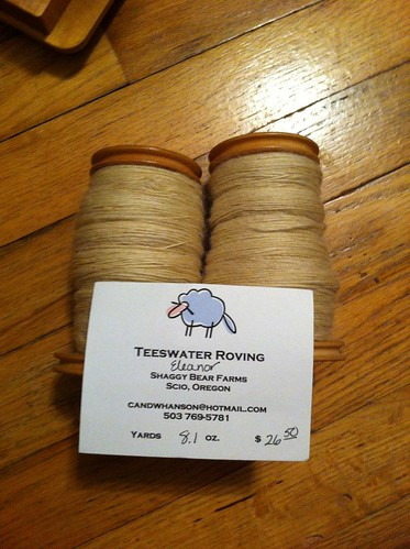 Tour de Fleece day 12 progress - Teeswater roving is spun up! by BlueDragon2