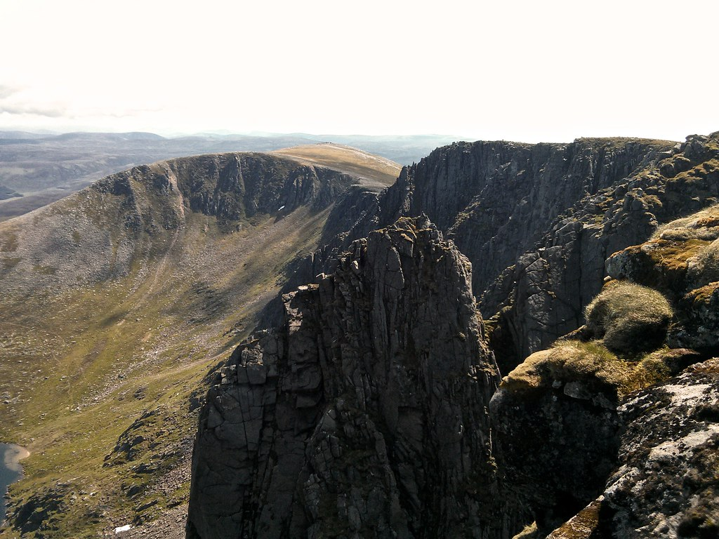 The dark cliffs of Lochnagar