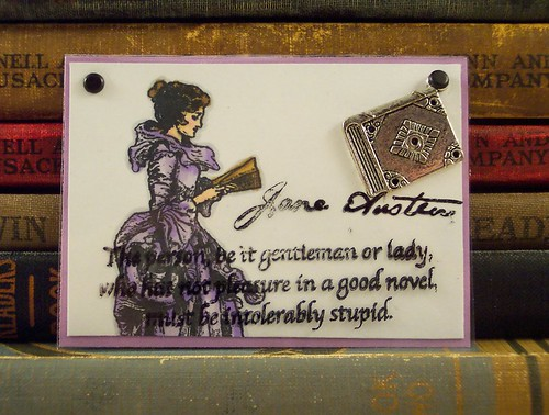 Jane Austen Reading Quote ATC
