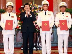 Thăng hàm Thượng tướng cho 3 Thứ trưởng Công an