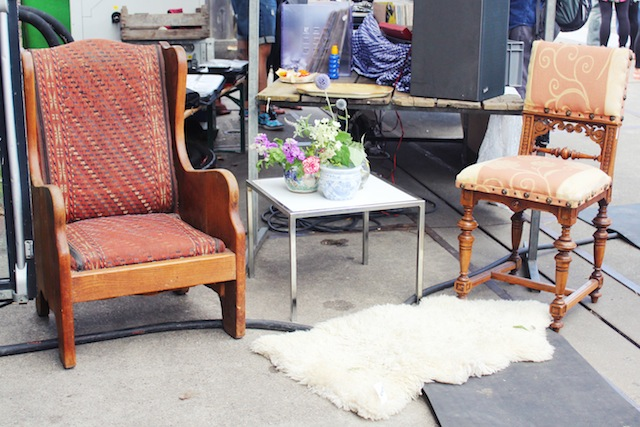 Neighbourfood Market vintage chairs