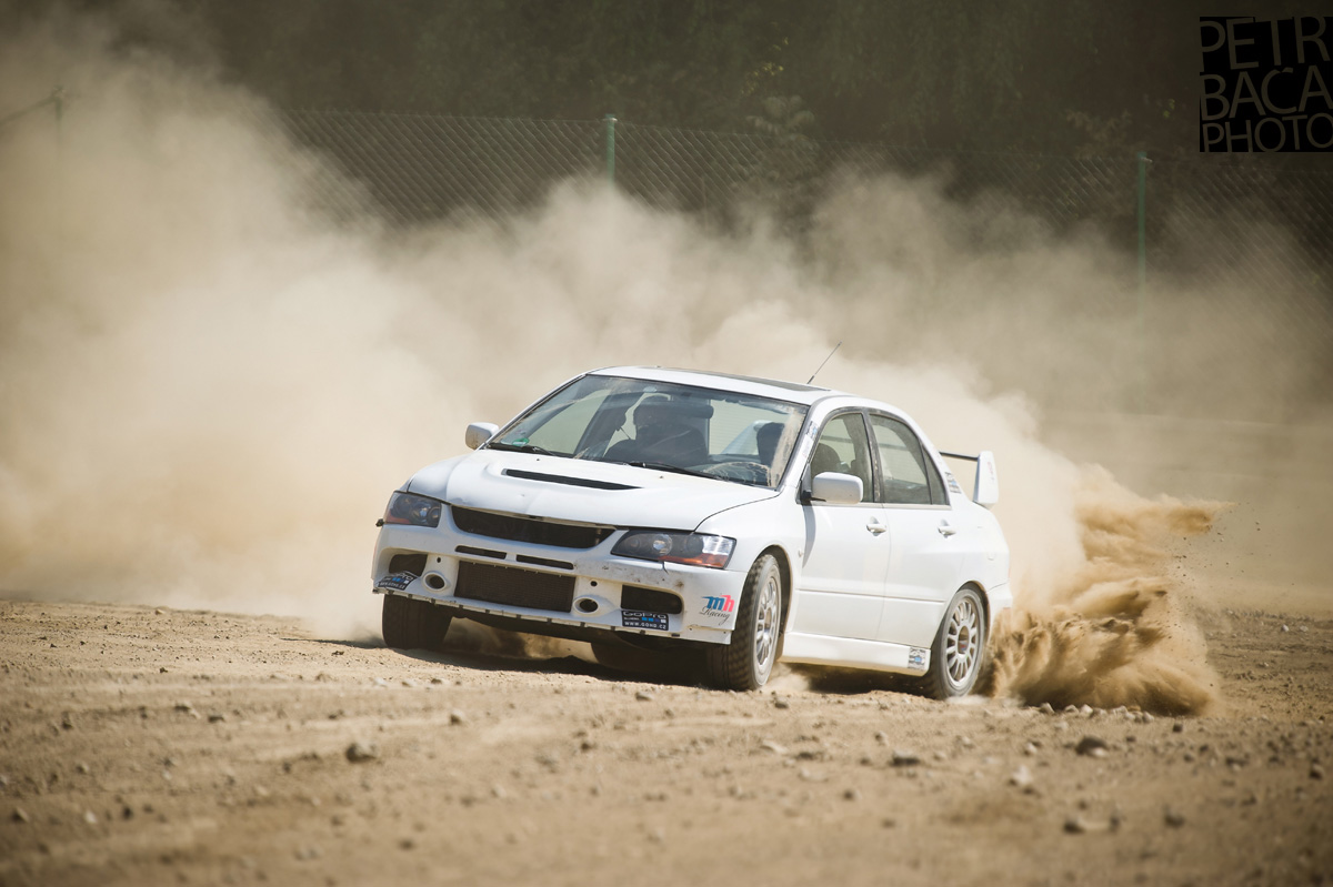 Driving Academy, Martin Semerád, Humpolec, šotolina, Mitsubishi Lancer Evo 9, Subaru Impreza WRX Sti