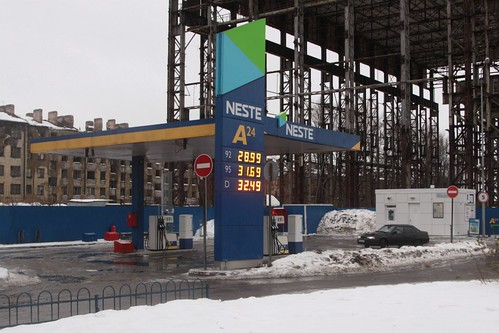 'Neste' service station in Saint Petersburg
