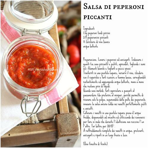 Una finestra di fronte salsa di peperoni piccanti - Una finestra di fronte ...
