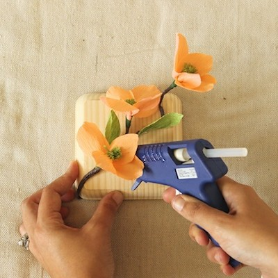 "Mounted Paper Flowers"" style="