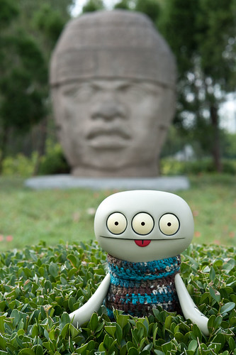 Uglyworld #2060 - Olmecs Header - (Project Cinko Time - Image 262-365) by www.bazpics.com