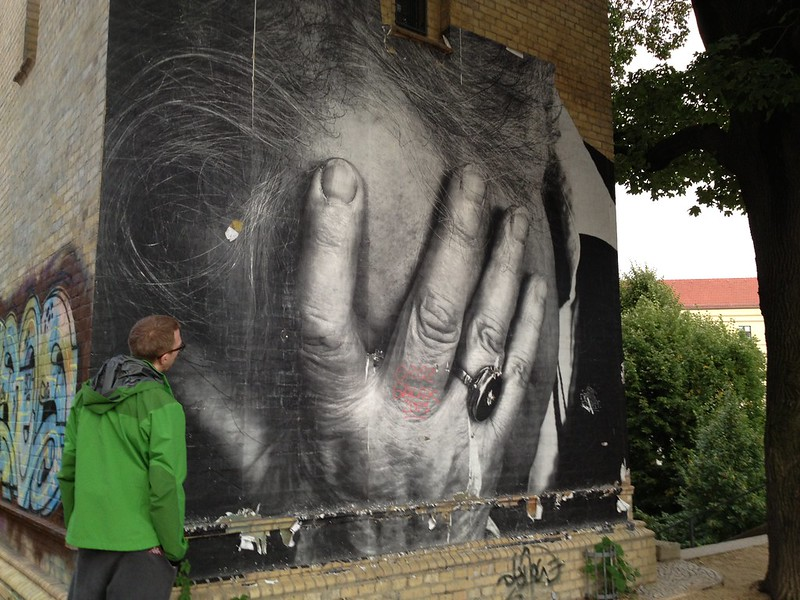 Berlin park paste-up