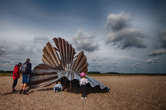 Aldeburgh Beach clam sculpture