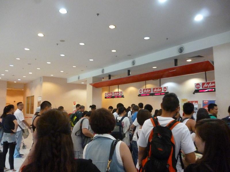 Queue at AirAsia Kota Kinabalu
