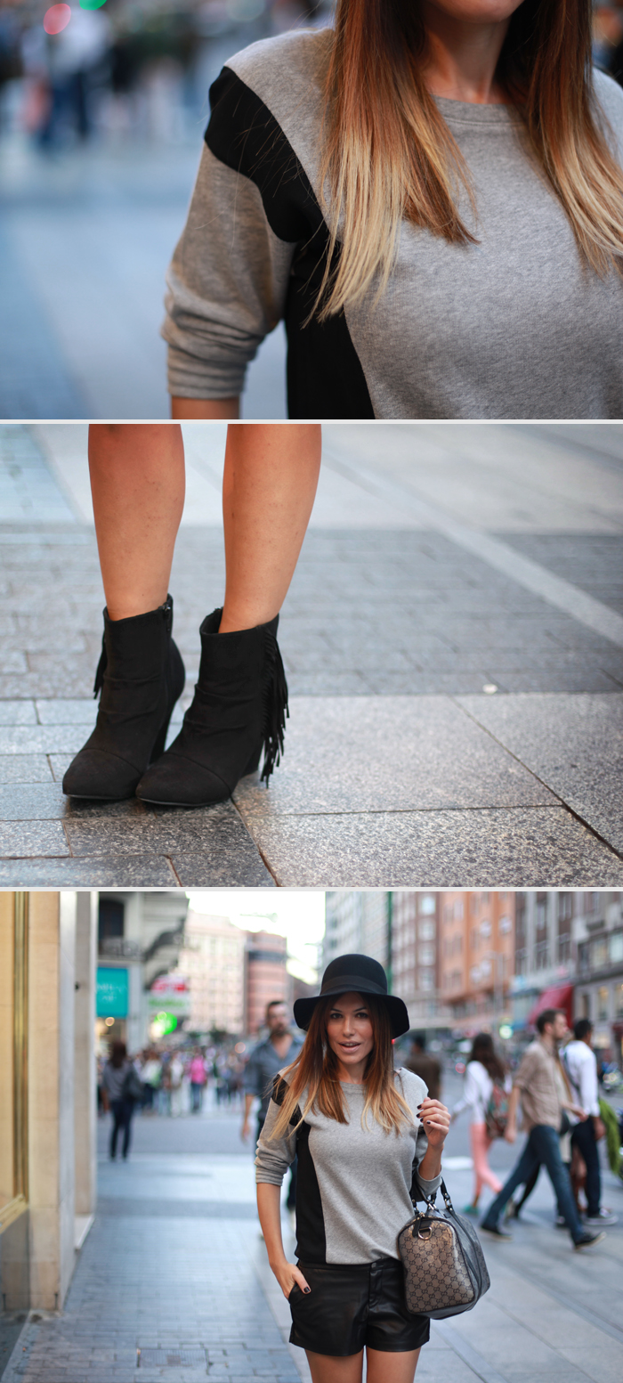 street style barbara crespo gran via madrid c&a opening outfit fashion blogger