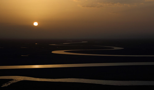 4891 The Kaidu River at sunset--Uyghur Autonomous Region ( Xinjiang ) , China