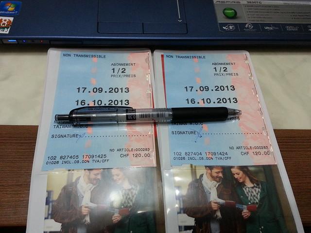 瑞士半價卡 swiss half fare card for one month