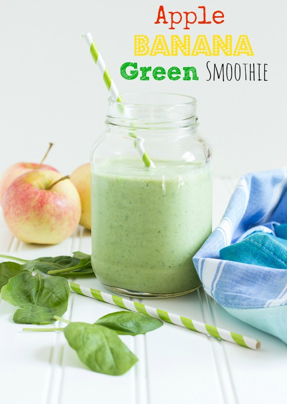 Apple Banana Green Smoothie  www.themessybakerblog.com -8578