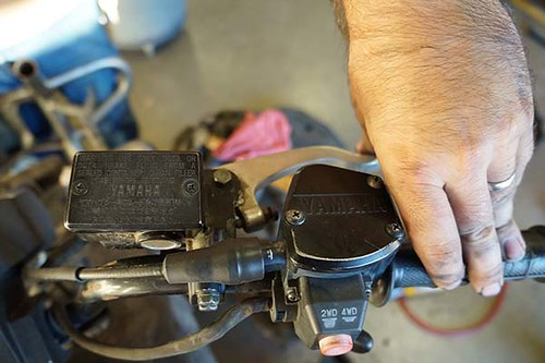 Grizzly Brake Lining : How to easily bleed atv brakes scooter s powersports
