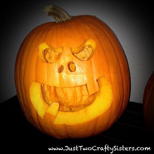 Spooky face halloween pumpkin