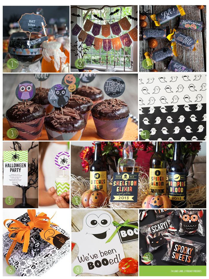 freebies // 10 halloween printables