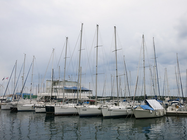Boats at the Pula marina