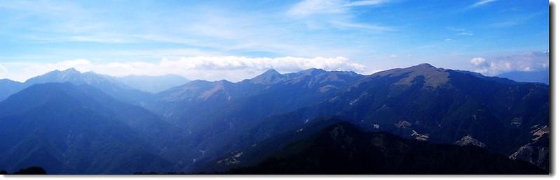 奇萊、合歡群峰(From畢祿山)