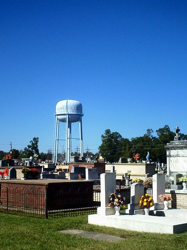 Marksville water tower and cemetery