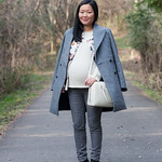 oversized gray coat