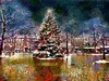 Painted Xmas in Market Square Newburyport by Rusty Russ