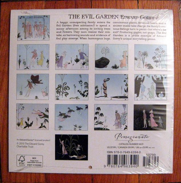 Gorey Evil Garden 2014 calendar, bacl