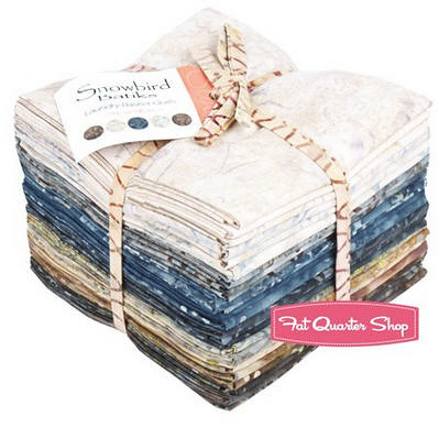 fat quarter bundle of snowbird