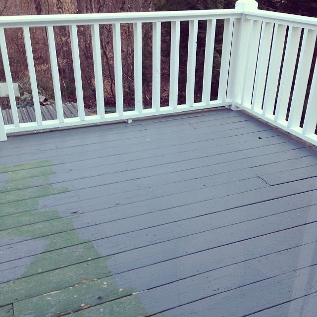 grey deck stain