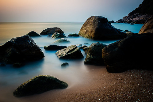 ocean longexposure morning travel sea seascape beach water colors beautiful rock sunrise thailand coast early sand rocks asia seasia gulf view smooth romantic coastline kohtao tranquil silky a77 mounatin suratthani 1650
