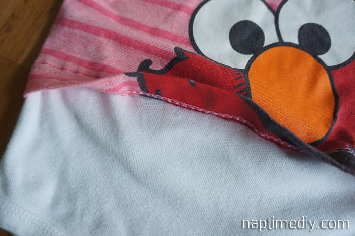 t-shirt onesie closeup