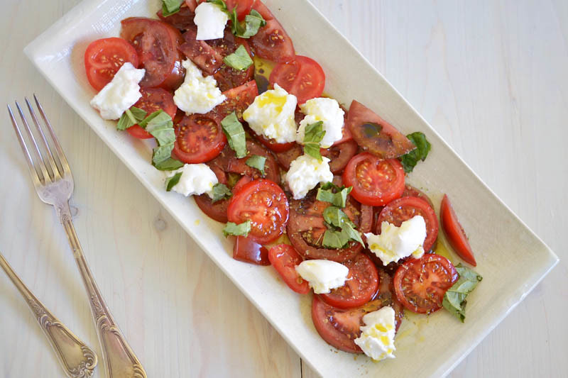 Simple Caprese Salad via LittleFerraroKitchen.com