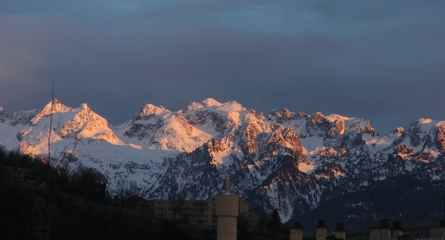 Grenoble - The Alps @ sunset