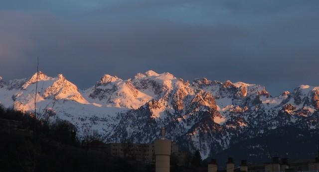 Grenoble - The Alps @ sunset
