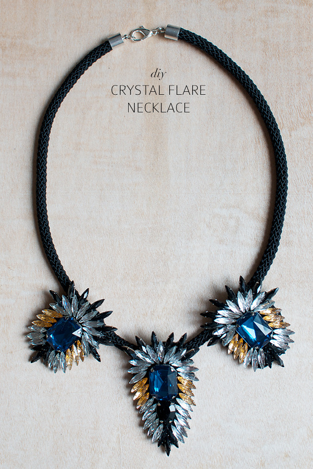 make a statement flare necklace with Geneva of a pair and a spare