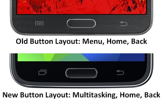 Galaxy S5 - New Buttons