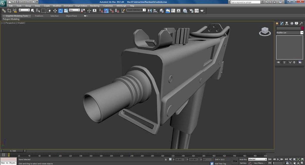 Mac 10 Sub Machine Gun Work Work In Progress Screenshots