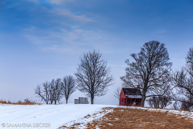 The Lonely Neilson House in Winter