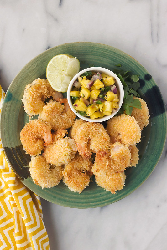 Grain-free Coconut Shrimp with Mango Salsa