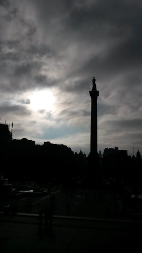 Nelson's column, winter sky