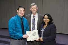 Seth VanZant and Maalinii Vijayan tied for 2nd place in poster competition