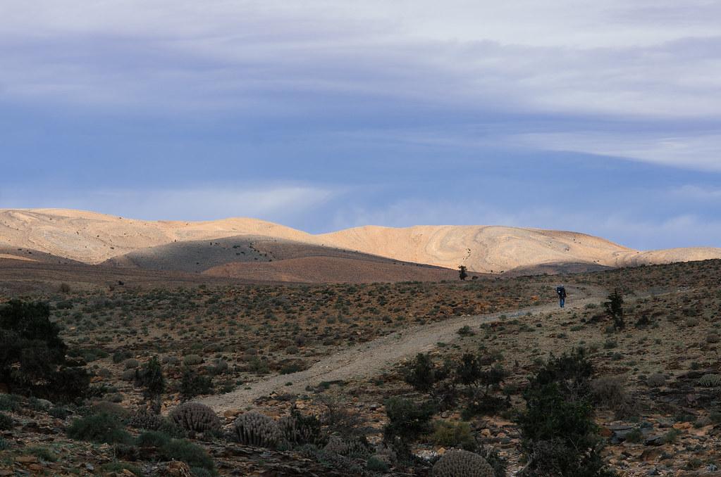 Trek sans guide au Maroc - 5 jours dans l'anti-Atlas - Marcher sur le plateau