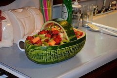 Woven Watermelon Fruit Basket