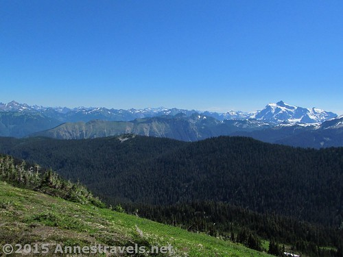 Mt. Shuksan and other Cascade peaks from Skyline Divide, Mount Baker-Snoqualmie National Forest, Washington
