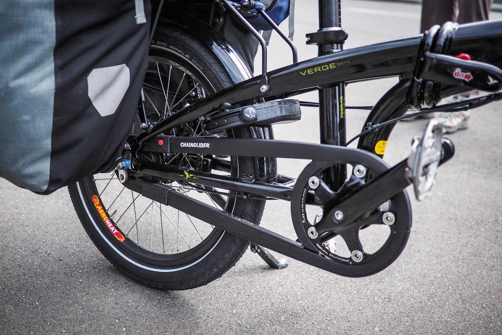 Hebie Chainglider on the Tern Verge S27h folding bike
