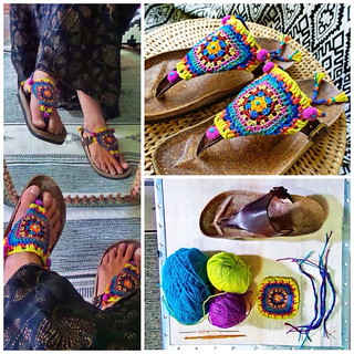 DIY * Granny Square Chic Sandals *