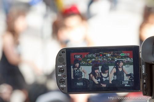 ビデオカメラの液晶パネルに映る Re:√s