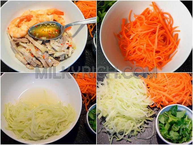 Trộn su hào cà rốt tôm thịt  - nước trộn gỏi 6