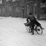 Vintage bike messenger #VikingBiking . Odense. 1953