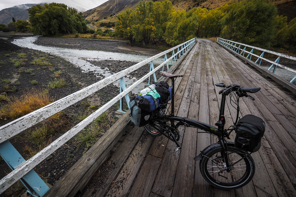 Wooden bridge on the Molesworth Muster Trail, New Zealand